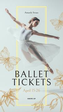 Ballet Invitation with Passionate Dancer