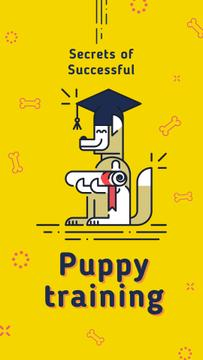 Funny dog with diploma