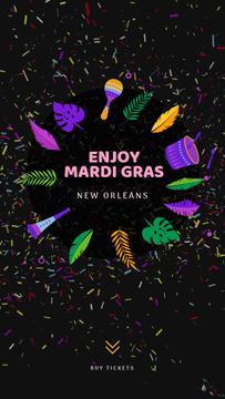 Mardi Gras Carnival Attributes Frame