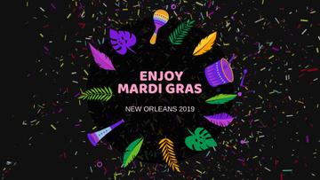 Mardi Gras carnival attributes