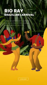 People Dancing at Brazilian Carnival
