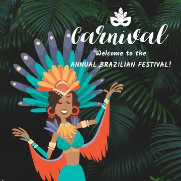 Woman dancing at Rio carnival