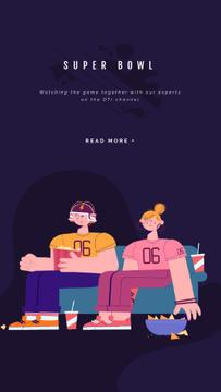 Excited Fans watching Super Bowl