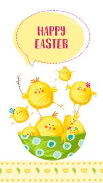 Cute spring Easter chicks
