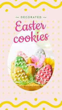Easter eggs cookies