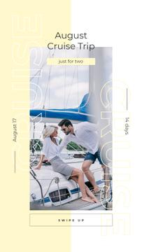 Couple sailing on yacht