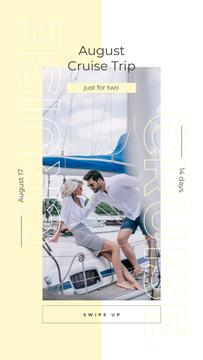 Couple sailing on yacht