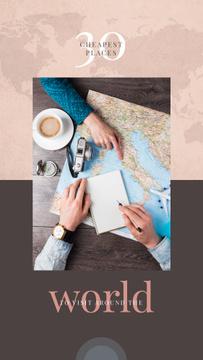 Choosing destination on a map