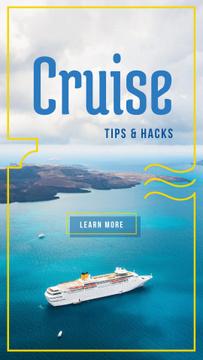 Cruise ship in sea