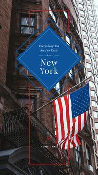 USA flag on New York building