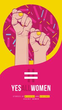 Rebel female hands