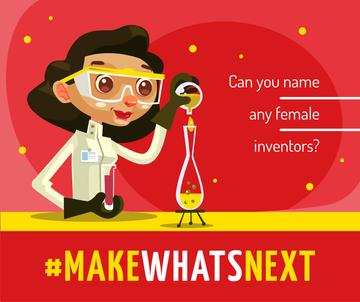 Female scientist with test tube