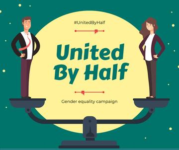 Gender Equality in Business concept