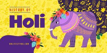 Elephant at Holi celebration