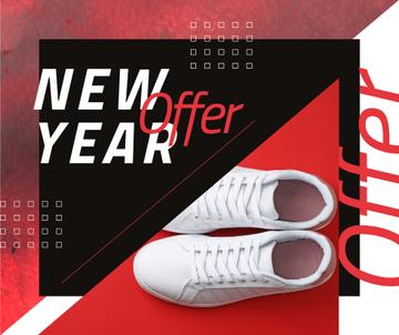 New Year Offer with Pair of running shoes