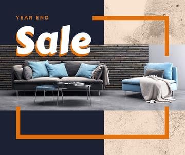 Year end Furniture sale interior in grey