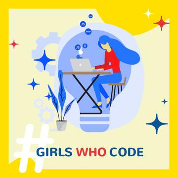 Equality Concept with Woman Coding on Laptop