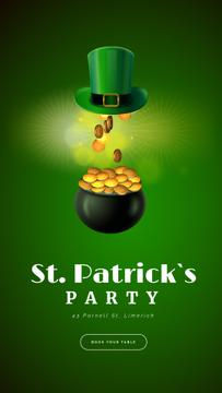 Saint Patrick's Day Hat and Gold