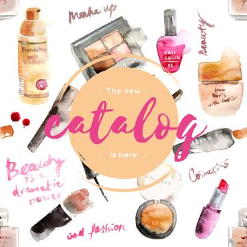 Makeup cosmetics catalog in Pink