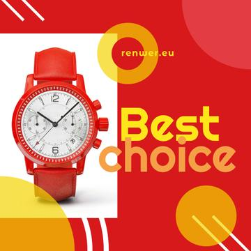Modern Red Watch promotion