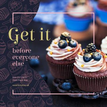 Delicious cupcakes for Bakery promotion
