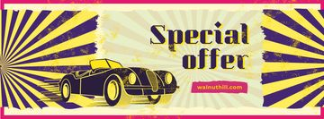 Special Offer with Shiny vintage car