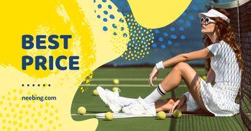 Sport Equipment Sale Woman Playing Tennis