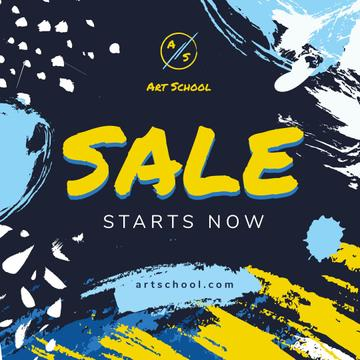 Sale Offer on Colorful paint blots