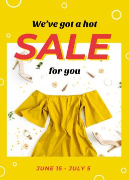 Clothes Sale Stylish Female Outfit in Yellow