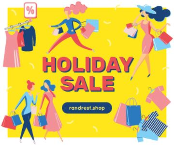 Holiday Sale Women Shopping for Clothes