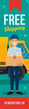 Delivery Offer Mailman Holding Parcel