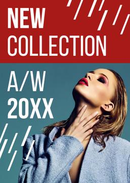 New Collection Promotion Woman with Bright Make-Up