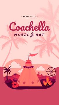 Coachella Invitation Girl in Festival Tent