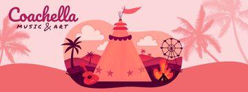 Girl at Coachella festival camp