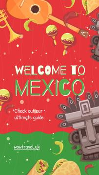 Travelling to Mexico concept