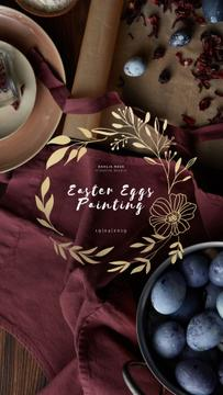 Coloring Easter Eggs Workshop Invitation