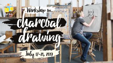 Painting Workshop Woman Drawing Portrait