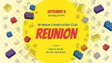 Construction Club Event Toy Constructor Bricks Frame
