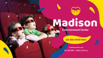 Kids watching Cinema in 3d Glasses