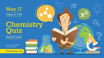 Chemistry Event announcement Scientist Reading Book