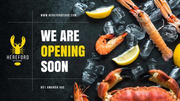 Restaurant Ad Fresh Seafood on Ice