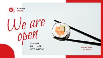 Restaurant promotion with Asian Sushi dish