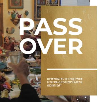 Passover Celebration with Family at Dinner Table