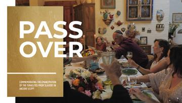 Passover Celebration Family at Dinner Table