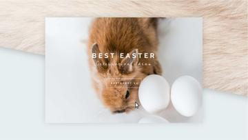 Cute Easter Bunny with Eggs