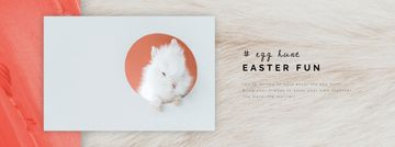 Cute Easter bunny in frame