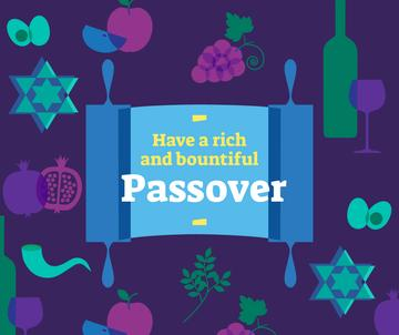Happy Passover holiday attributes