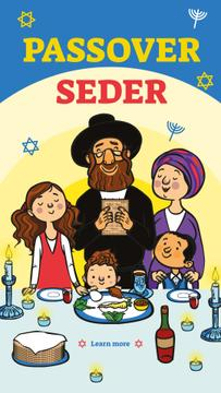 Family at Passover dinner