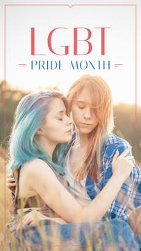 Pride Month with Two women hugging