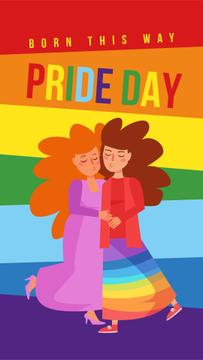 Pride Day with Two women hugging